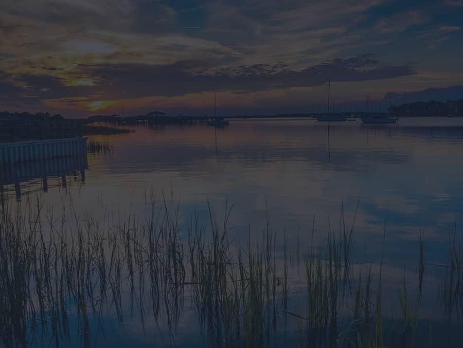Coastal sunset in Charleston