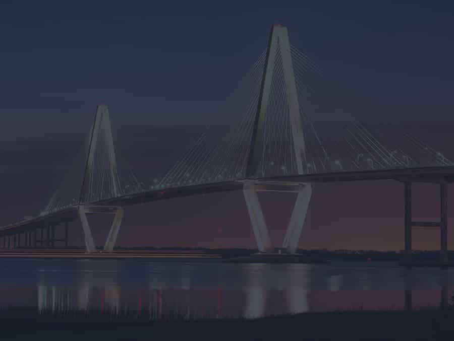 The Ravenel Bridge in Charleston SC