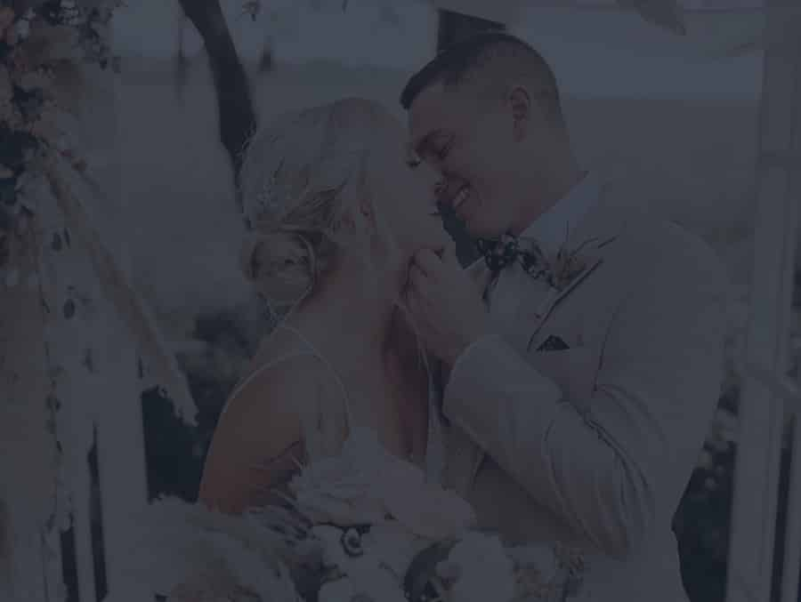 Lovely couple kissing on their wedding day in Charleston SC