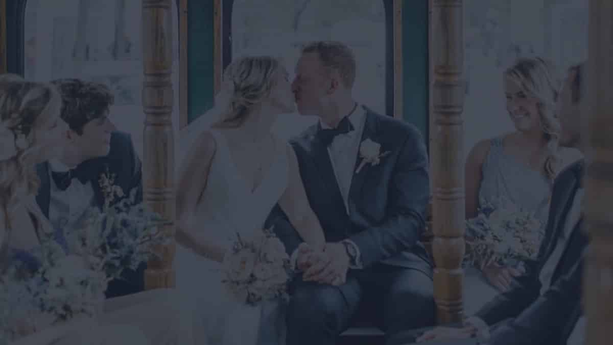 Wedding with a bus ride, perfect wedding planning in Charleston SC