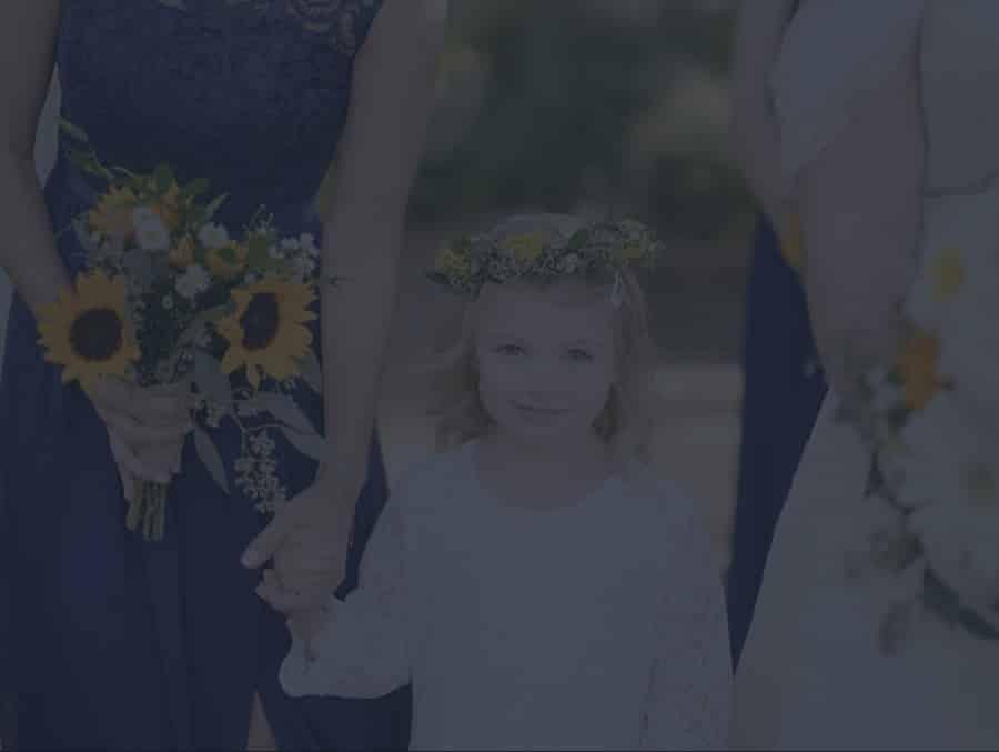 Flower girl at a wedding in Charleston SC